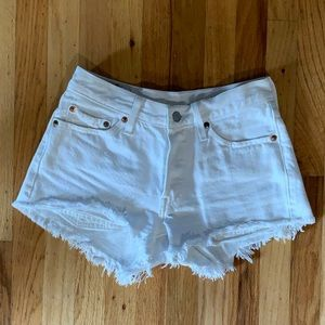 levi 501 denim cutoff shorts
